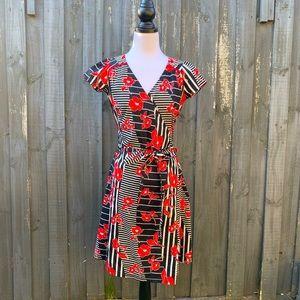 Leona Edmiston Ruby Floral Wrap Dress XS AU8